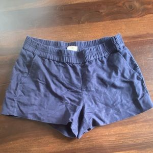 J. Crew | navy blue pull-on shorts size 4